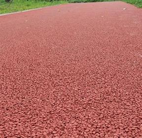 钦州红色开级配沥青OGFC透水路面
