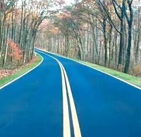 桂林密级配沥青-蓝色